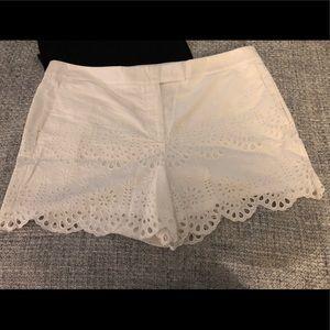Ann Taylor Devin White eyelet shorts